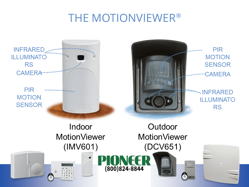 Motion detectors from Pioneer Security